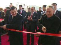 Видео: Назарбоев ва Мирзиёев «шаҳар айланишди»