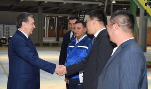 Президент «Ангрен» ЭИЗга ташриф буюрди